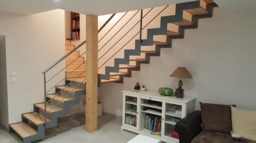 escalier cremaillère marche bois 2