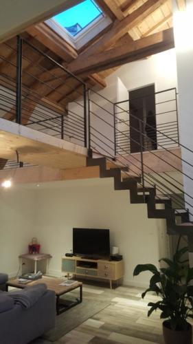 escalier cremaillère marche bois 6