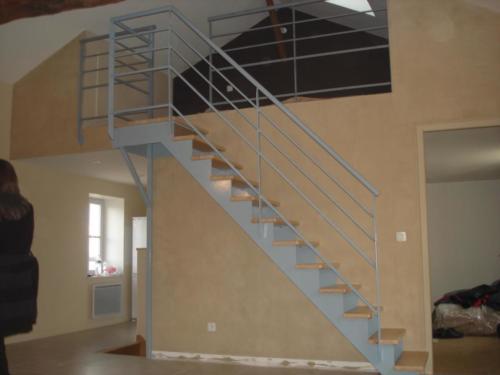 escalier semi  cremaillère