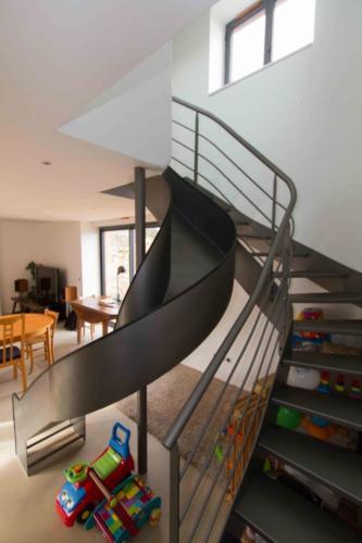 escalier toboggan 3