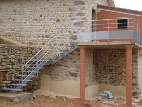 Escaliers avec Limon central