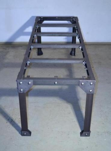 chassis de table industrielle acier rivete demontable small